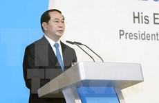 越南国家主席出席新加坡讲座并发表演讲
