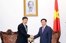 越南政府副总理王廷惠:希望UNDP继续向越南提供优惠贷款