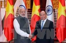 越南政府总理阮春福与印度总理纳伦德拉•莫迪举行会谈