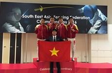 2016年东南亚击剑锦标赛:越南击剑队夺取两枚金牌