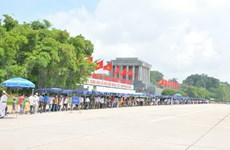 九•二国庆节期间超过3.1万人次入陵瞻仰胡志明主席遗容