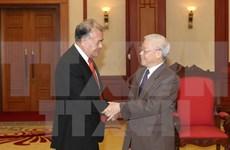 越共中央总书记会见墨西哥劳动党全国协调员安纳亚
