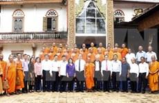 越南祖国阵线中央委员会主席阮善仁访问高棉南宗佛教学院