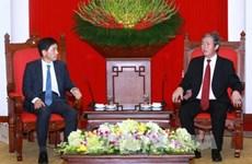 越共中央书记处常务书记丁世兄会见赴越履新的韩国新任驻越大使李赫