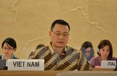 越南代表东盟强调对普遍定期审议机制的承诺