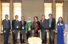 越南国会主席阮氏金银会见新加坡国会议长哈莉玛·雅各布