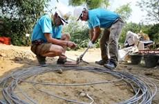 国际志愿者为富寿省20个贫困户建房