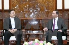 国家主席陈大光会见伊朗驻越南大使萨利赫•艾迪比