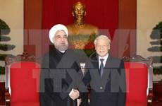 伊朗总统哈桑•鲁哈尼高度评价越南在地区与国际舞台上发挥的积极作用