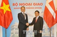 越南政府副总理兼外长范平明与丹麦外交部长克里斯蒂安·延森举行会谈