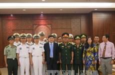 越南庆和省领导会见中国海军舰艇编队代表团