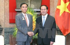 越南国家主席陈大光会见日本长野县知事阿部守一