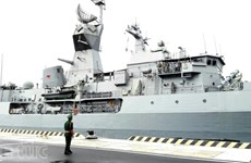 澳大利亚军舰访问越南金兰国际港
