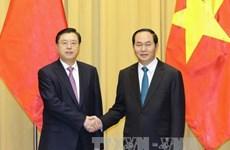 越南国家主席陈大光会见中国全国人大常委会委员长张德江