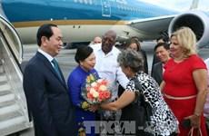 越南国家主席陈大光拜会古巴革命领袖菲德尔·卡斯特罗