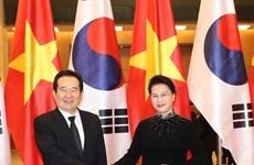 韩国国会议长丁世均开始对越南进行正式访问(组图)
