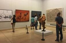 四名越南画家参加第七届中国北京国际美术双年展