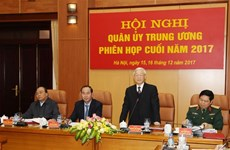 阮富仲主持召开越共中央军委2017年度工作总结会议(组图)