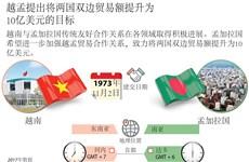 图表新闻:越孟提出将两国双边贸易额提升至10亿美元的目标
