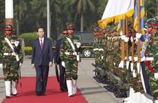 越南国家主席陈大光对孟加拉国进行国事访问(组图)