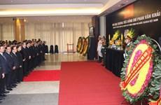 原越南政府总理潘文凯吊唁仪式在河内和胡志明市举行 (组图)