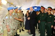 澳大利亚总督走访越南参加联合国维和行动的一号二级野战医院(组图)