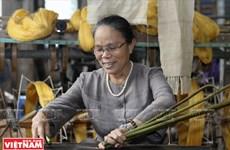 越南独特的荷花丝绸(组图)