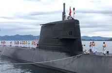 日本海上自卫队的潜舰黑潮访问金兰港