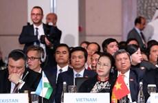 越南国会主席阮氏金银出席第三届欧亚国家议长会议(组图)