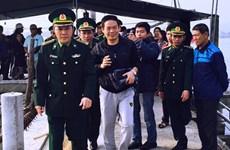 广平省:海上遇险的一名中国公民获救