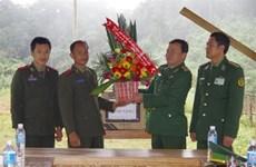 承天顺化省边防部队访问老挝塞公省军事指挥部531边界保卫连