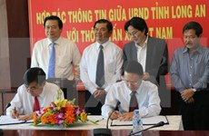 越通社与隆安省加强通信合作