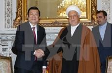 越南国家主席张晋创会见伊朗议会议长和专家会议主席