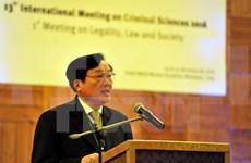 越南代表出席在古巴举行的国际刑事科学会议