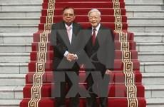 老挝人民革命党中央总书记圆满结束对越南的正式友好访问
