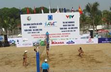 2016年下龙市巡州亚洲女子沙滩排球公开赛拉开战幕