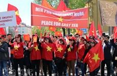 旅捷越南人向中国驻捷大使馆递交抗议书
