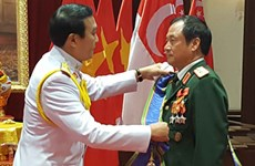 泰国向越南人民军一位上将颁授一级大十字骑士章
