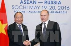 越南政府总理阮春福会见俄罗斯总统普京