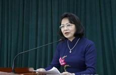 越南国家副主席邓氏玉盛:创新爱国竞赛运动的宣传方式