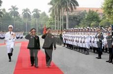 越南国防部和总参某部领导会见外国客人