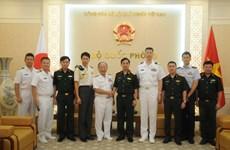 越南与日本进一步加强防务合作
