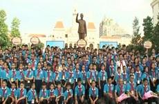 胡志明市领导人会见越老柬三国儿童代表