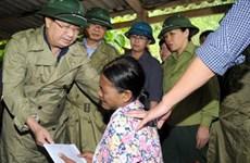 政府副总理郑廷勇在老街省现场指导救灾工作