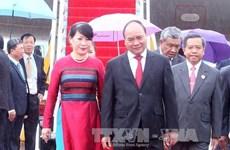 阮春福总理抵达老挝万象开始出席第28届和第29届东盟峰会及系列会议