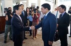河内市人民委员会主席阮德钟会见中国公安部部长郭声琨