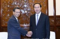 国家主席陈大光会见日本驻越大使大岛浩