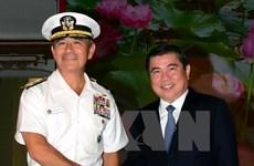 胡志明市领导人会见美国太平洋总司令部司令