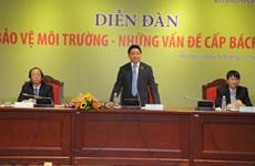 越南国会代表十分关注环境保护的紧迫性问题