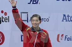 第十届亚洲游泳锦标赛:越南游泳选手阮氏映圆摘一金三铜